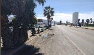 baches en tramo Sauzal-Ensenada